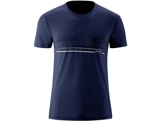 Maier Sports Myrdal Print T-shirt Heren, aviator melange